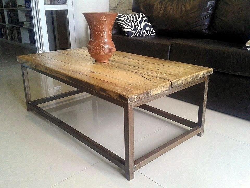 Mesa ratona r stica en hierro y madera iuhu compra y for Mesa hierro y madera